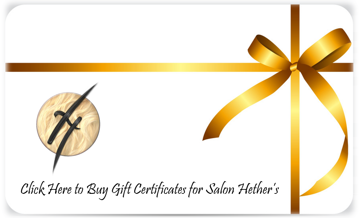 Gift Certificate for Salon Hethers Graphic